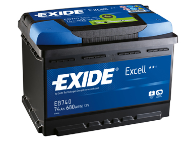 exide excell eb712 autobatterie 71ah 12v 670a. Black Bedroom Furniture Sets. Home Design Ideas