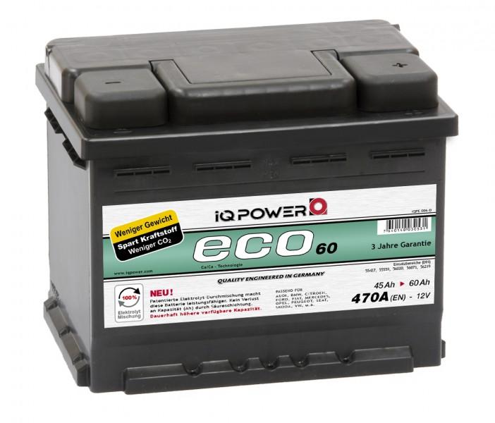 iq power batterie eco 60 ah audi 80 2 6 quattro autobatterie kaufen. Black Bedroom Furniture Sets. Home Design Ideas
